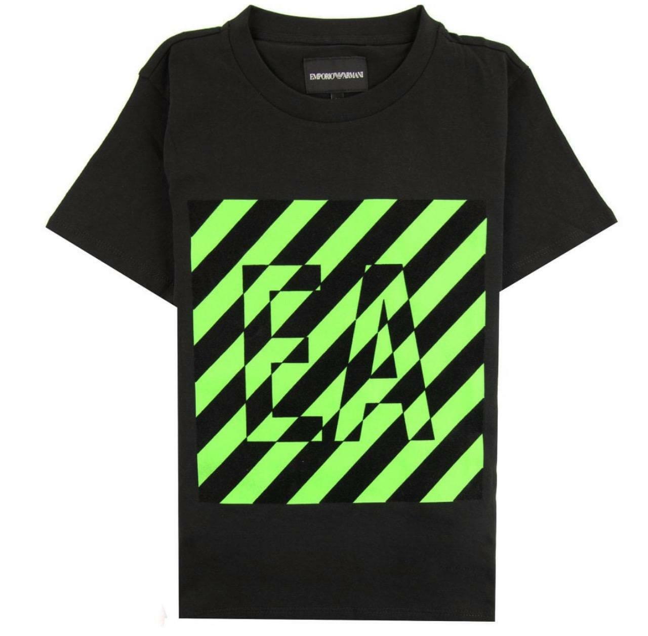 emporio emporio t-shirt  bambino nero 3h4tb7-1j00z