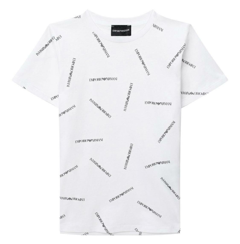 emporio emporio t-shirt bambino bianco 3h4td7-4j09z