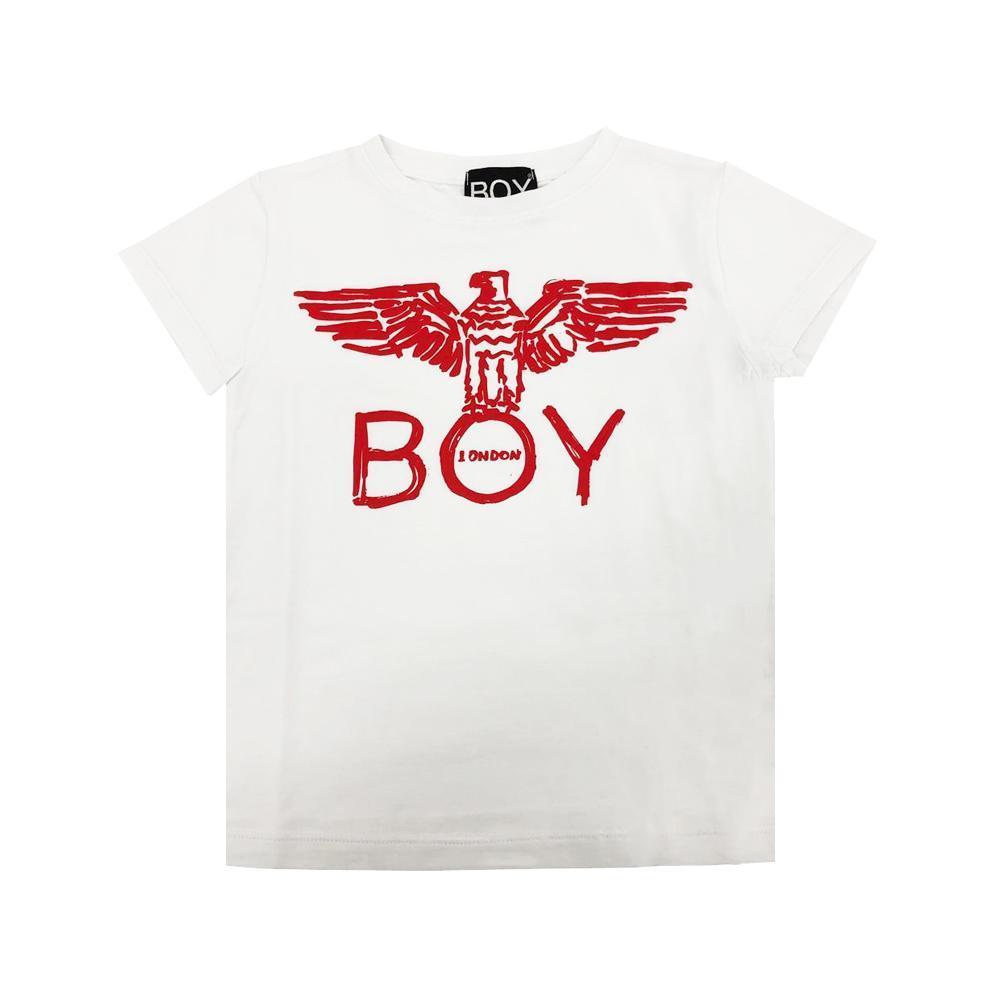 boy london boy london t-shirt ragazzo bianco tsbl2101j