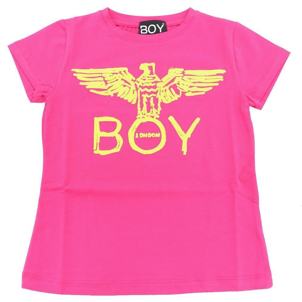 boy london boy london t-shirt ragazza fuxia giallo tsbl2101j
