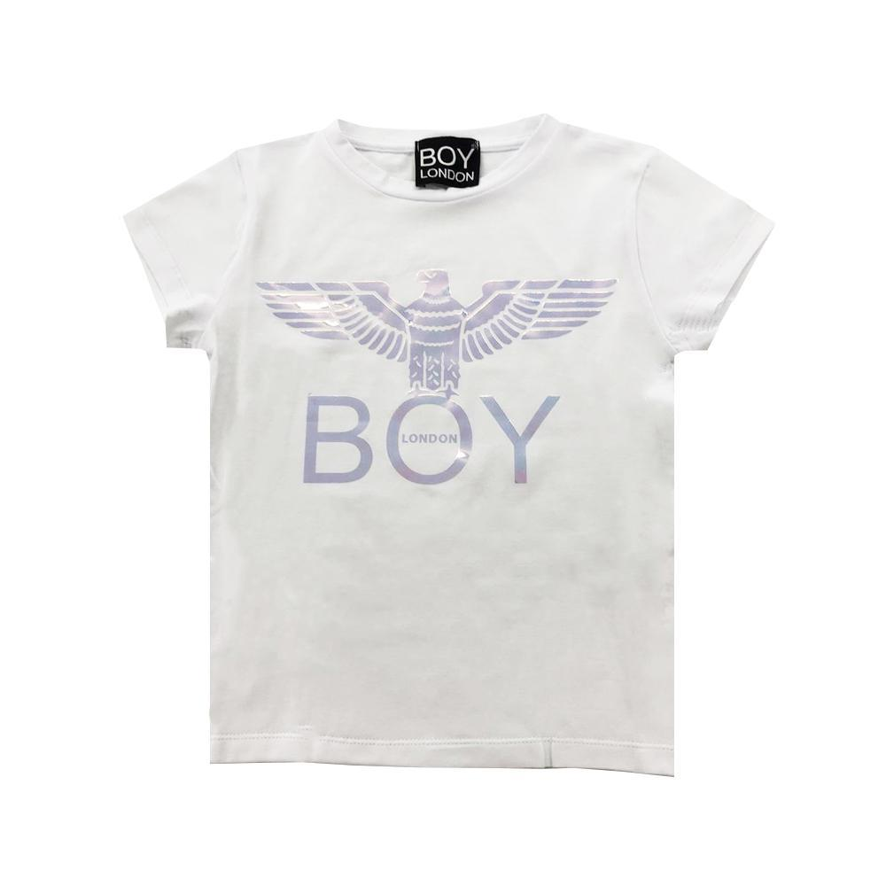 boy london boy london t-shirt ragazza bianco tsbl2106j