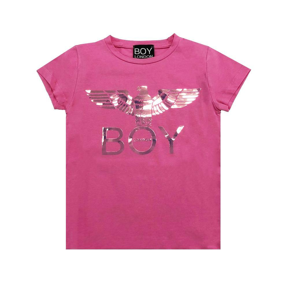 boy london boy london t-shirt ragazza rosa tsbl2106j