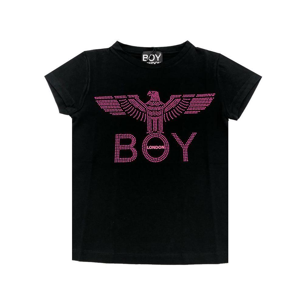 boy london boy london t-shirt ragazza nero tsbl2113j