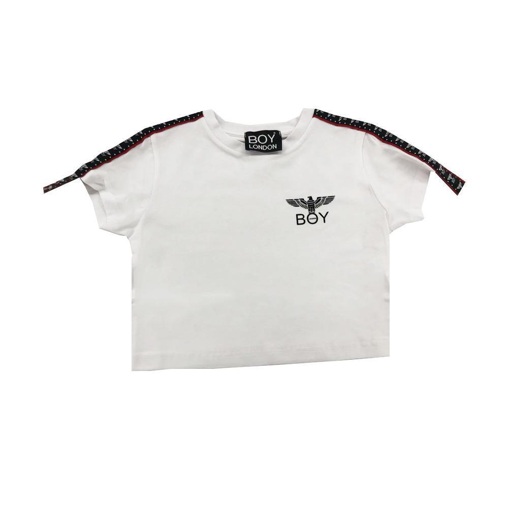 boy london boy london t-shirt ragazza bianco tsbl2111j