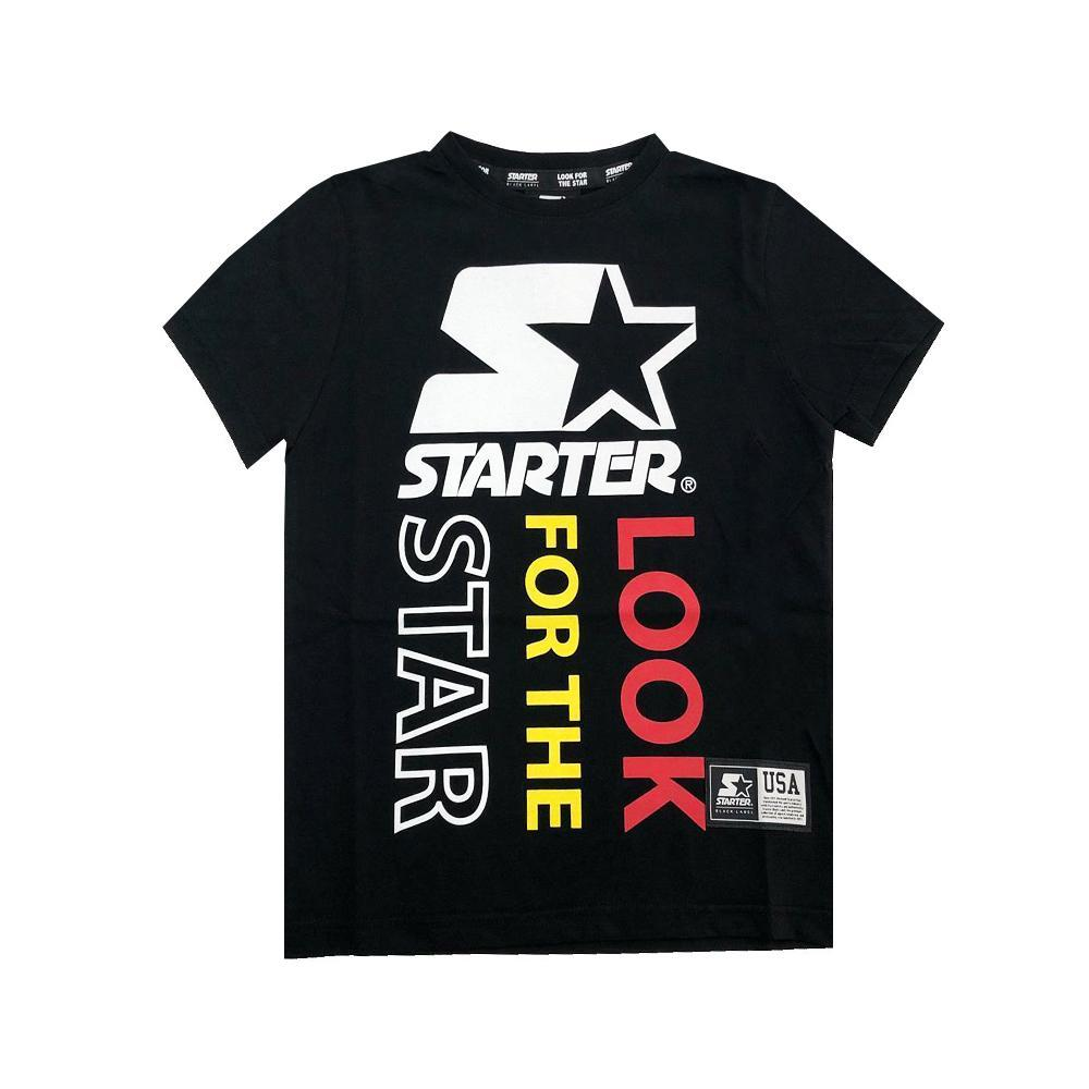 starter starter t-shirt ragazzo nero tsst2105j