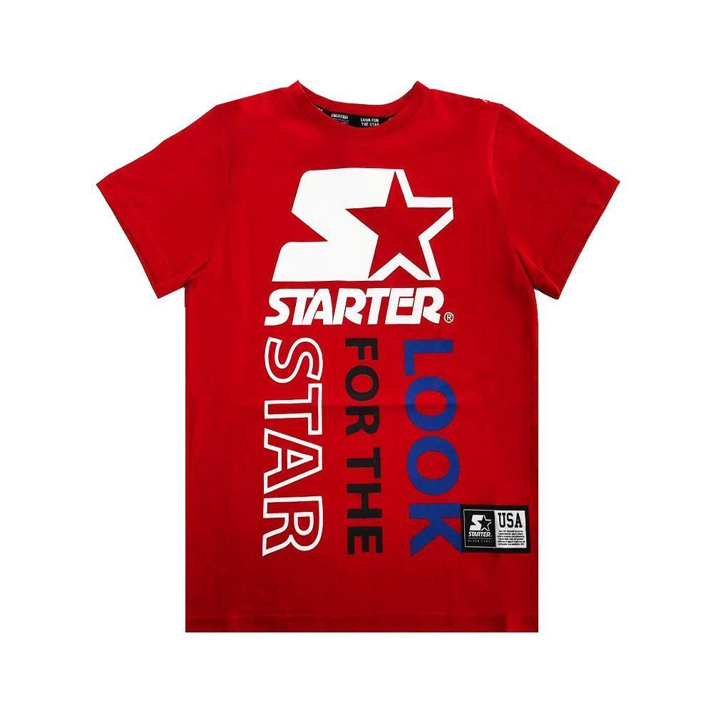 starter starter t-shirt ragazzo rosso tsst2105j