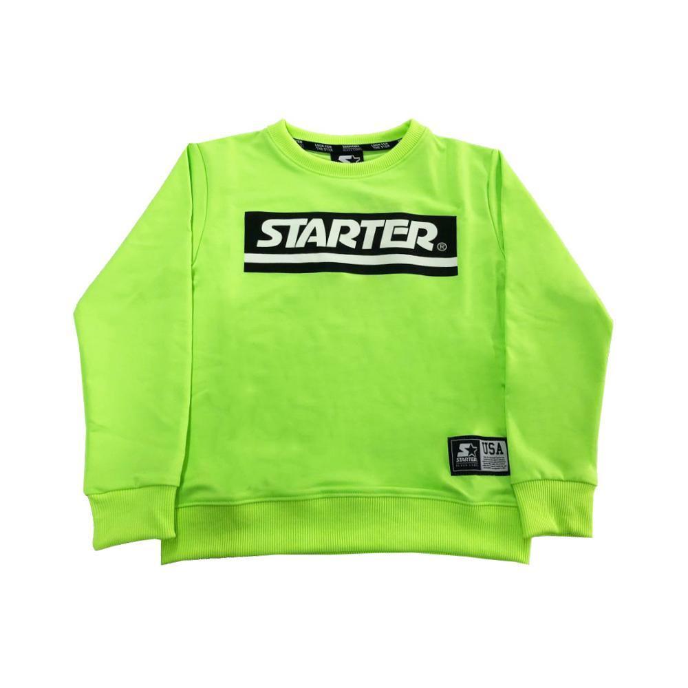 starter starter felpa giroc ragazzo verde fluo mfst2106j