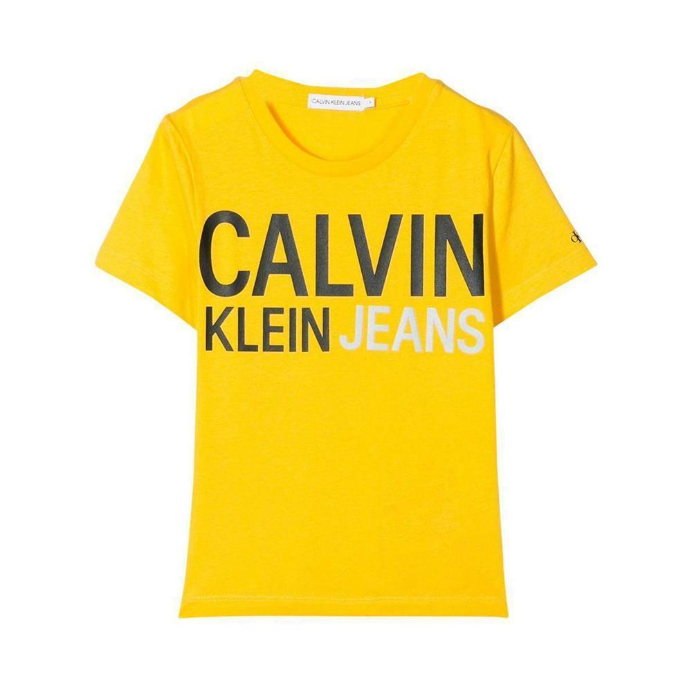 calvin klein calvin klein t-shirt bambino giallo ib0ib00348