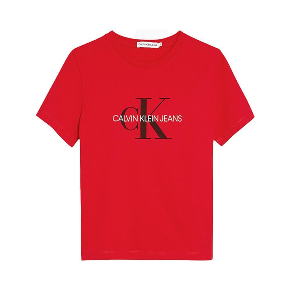 calvin klein calvin klein t-shirt bambino rosso iu0iu00068