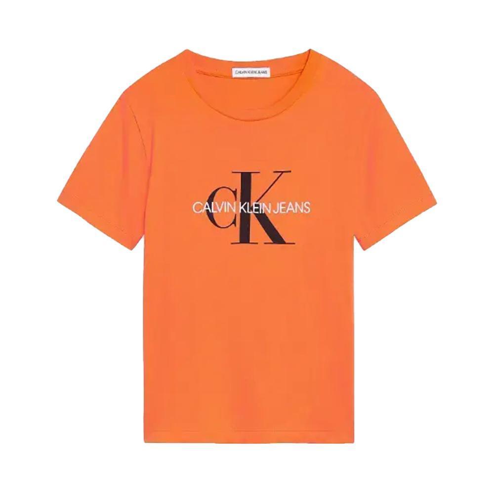calvin klein calvin klein t-shirt bambino arancio iu0iu00068