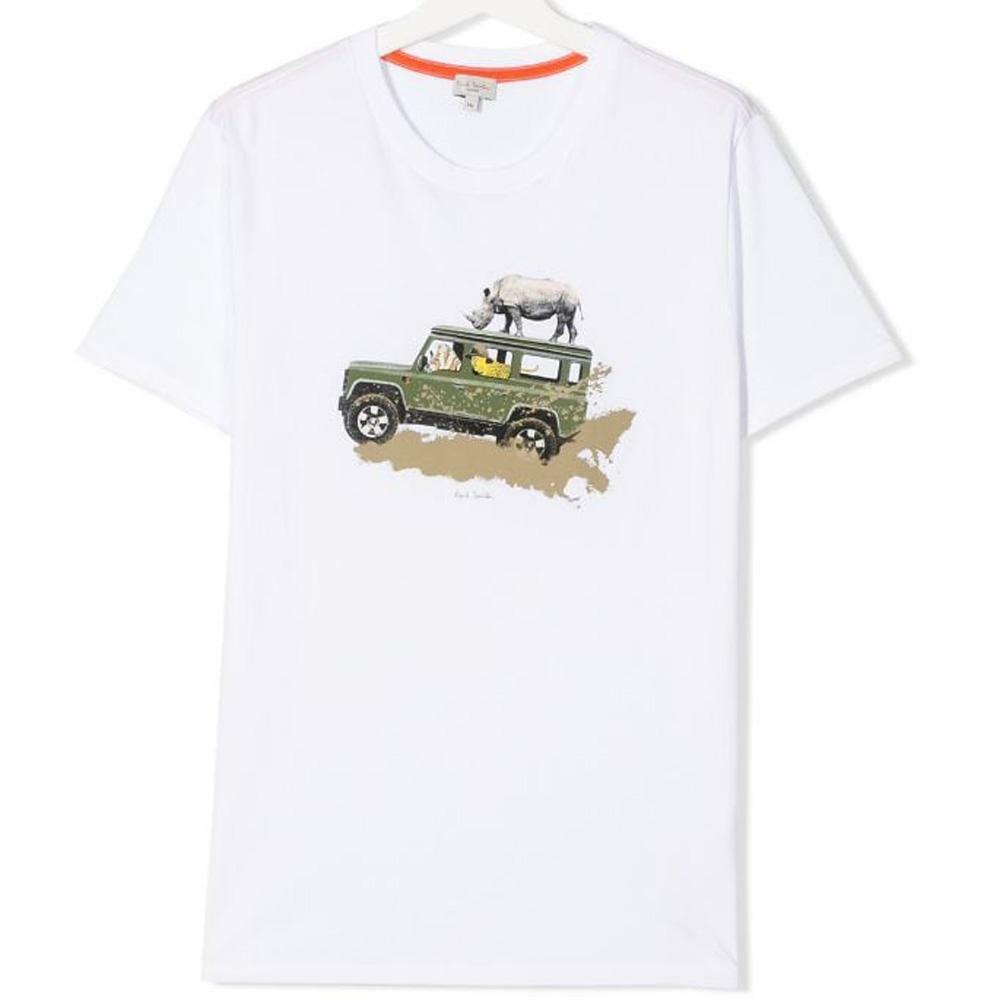 paul smith paul smith t-shirt bambino bianco 5q10752