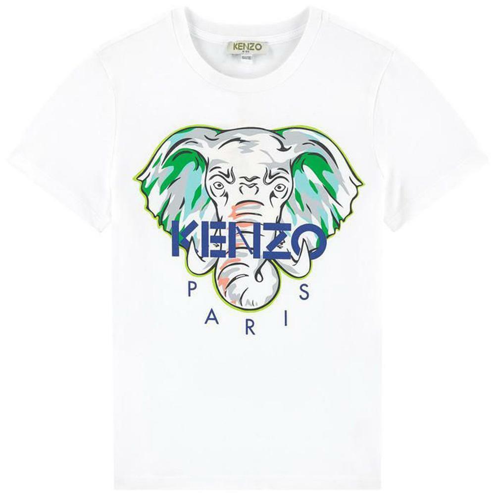 kenzo kenzo t-shirt junior bianco kq106182