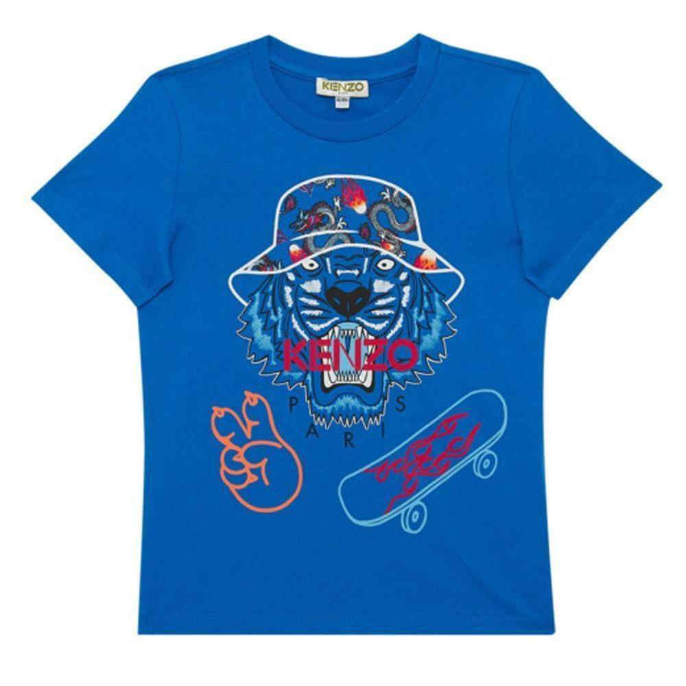 kenzo kenzo t-shirt bambino royal kq10668