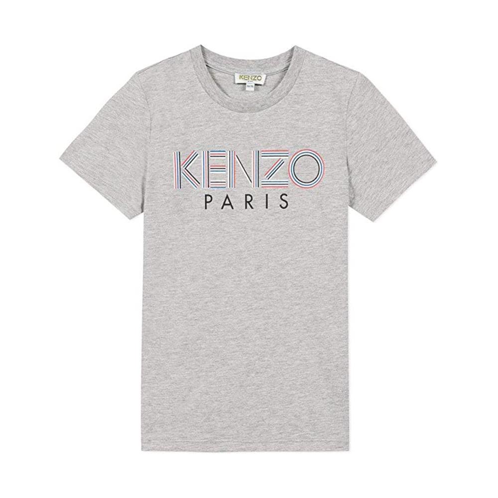 kenzo kenzo t-shirt bambino grigio kq10628