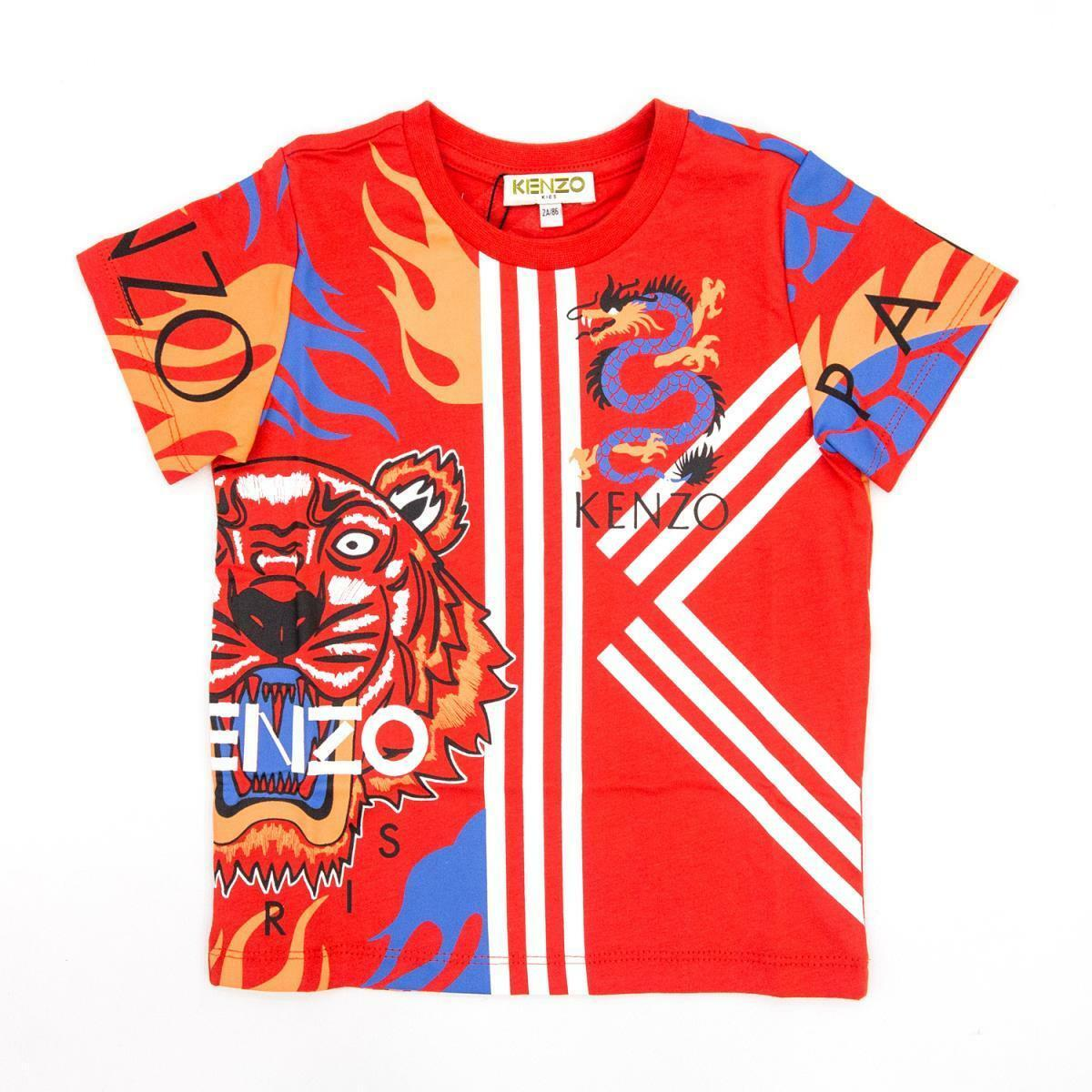 kenzo kenzo t-shirt bambino rosso kq10578
