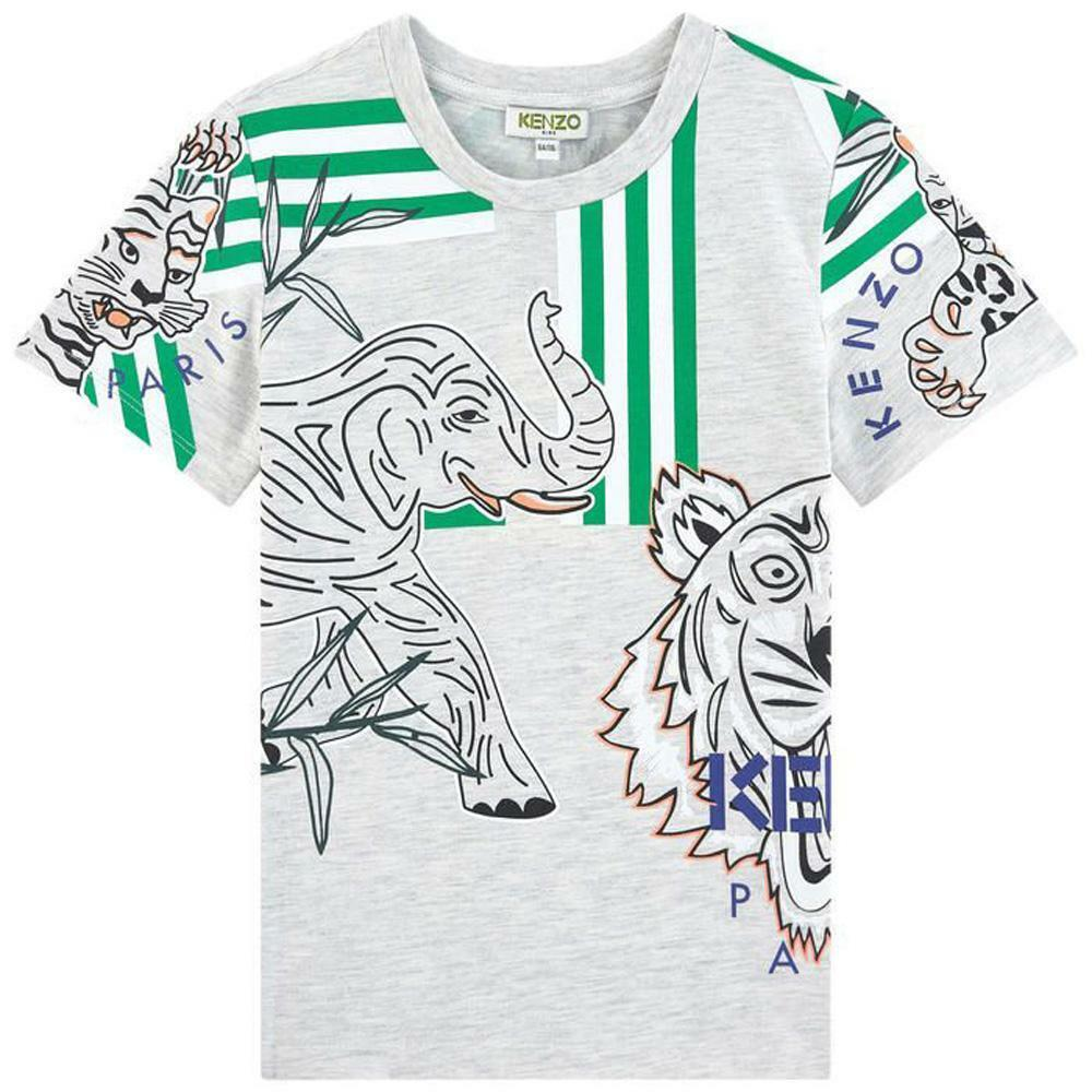 kenzo kenzo t-shirt junior grigio kq105981