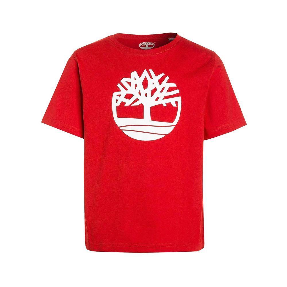 timberland timberland t-shirt bambino rosso t25q60