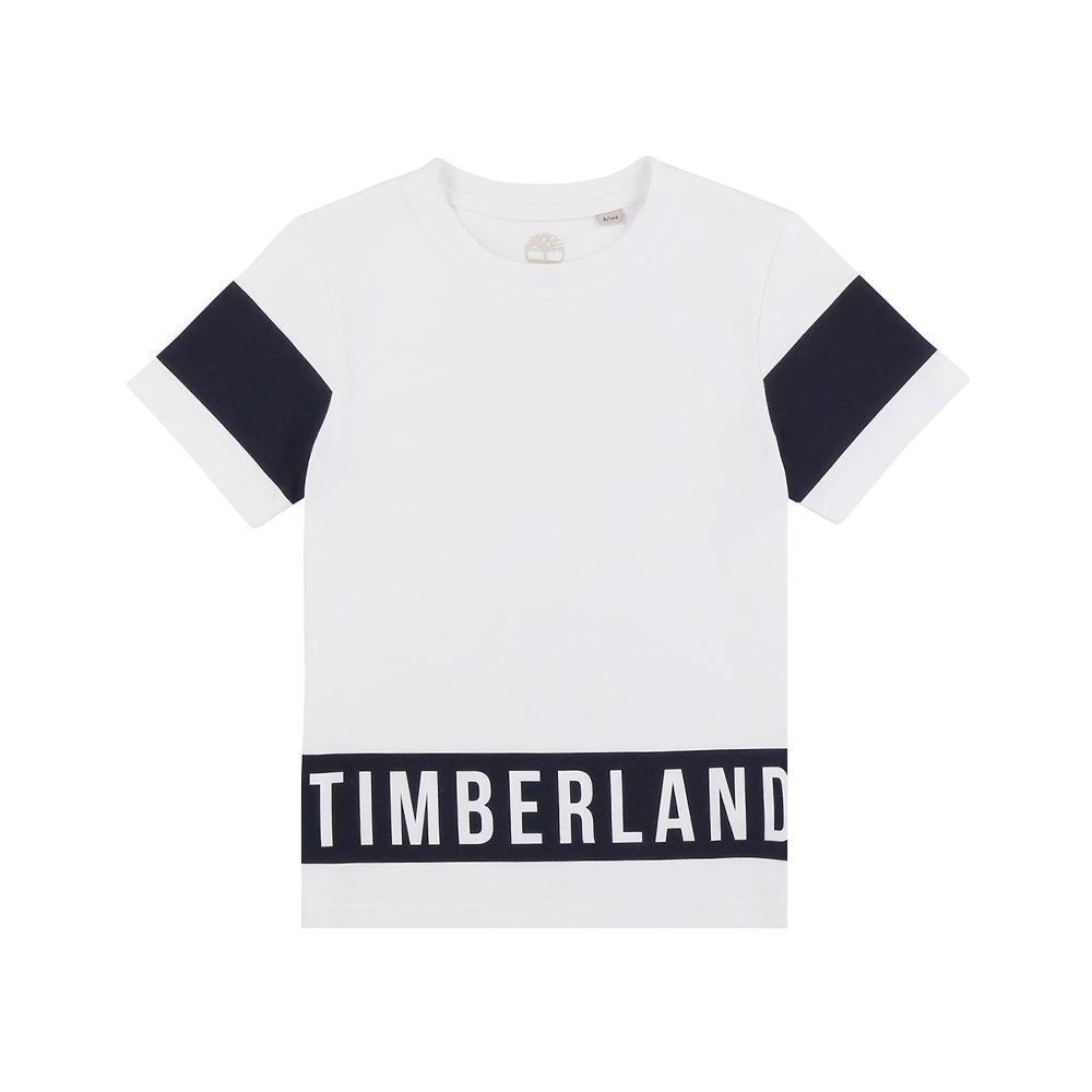 timberland timberland t-shirt bambino bianco t25q78