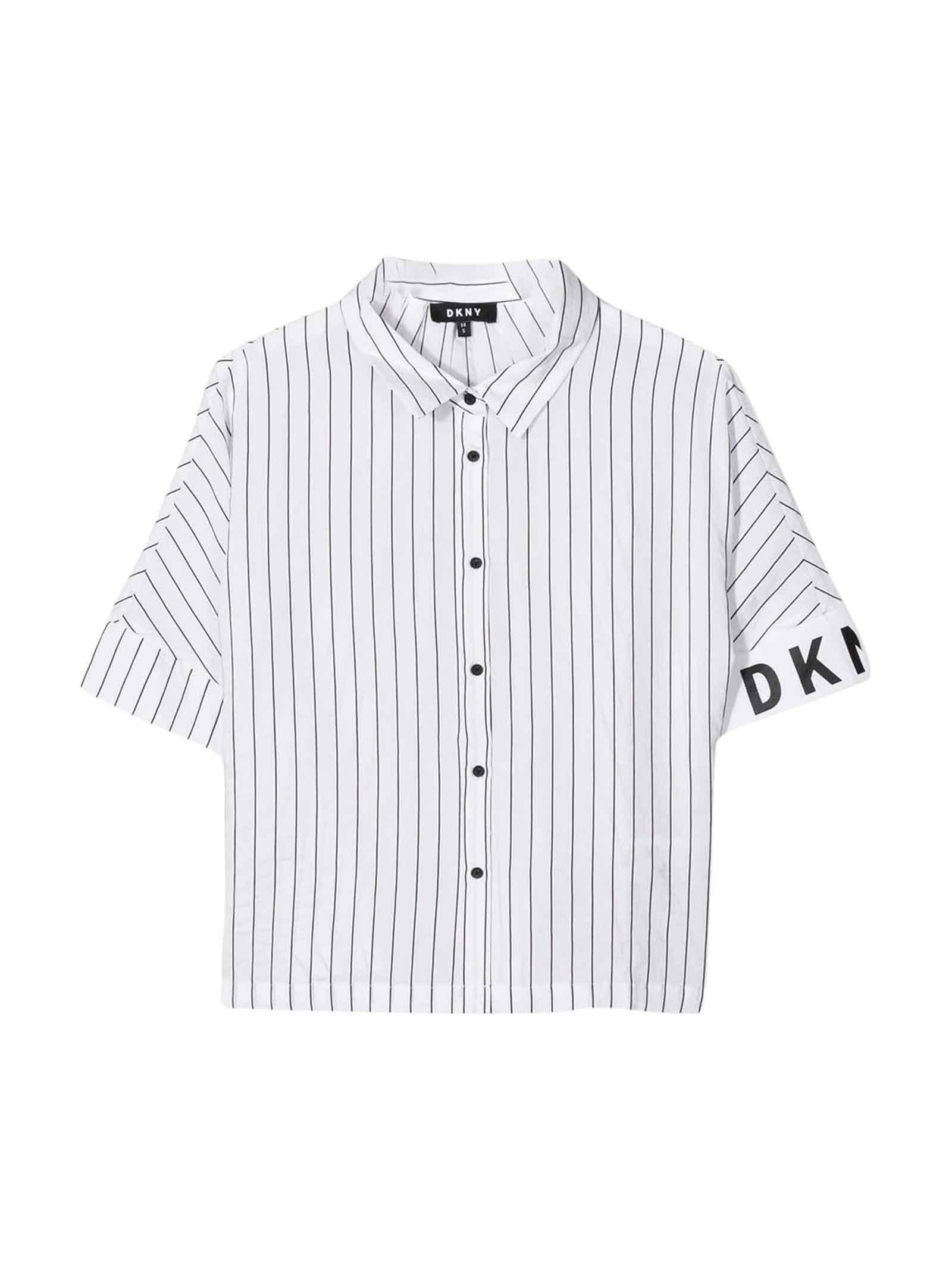 dkny dkny camicia ragazza bianco d35q631