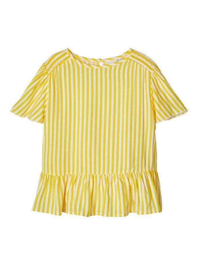 name.it name.it camicia bambina bianco giallo 13175635