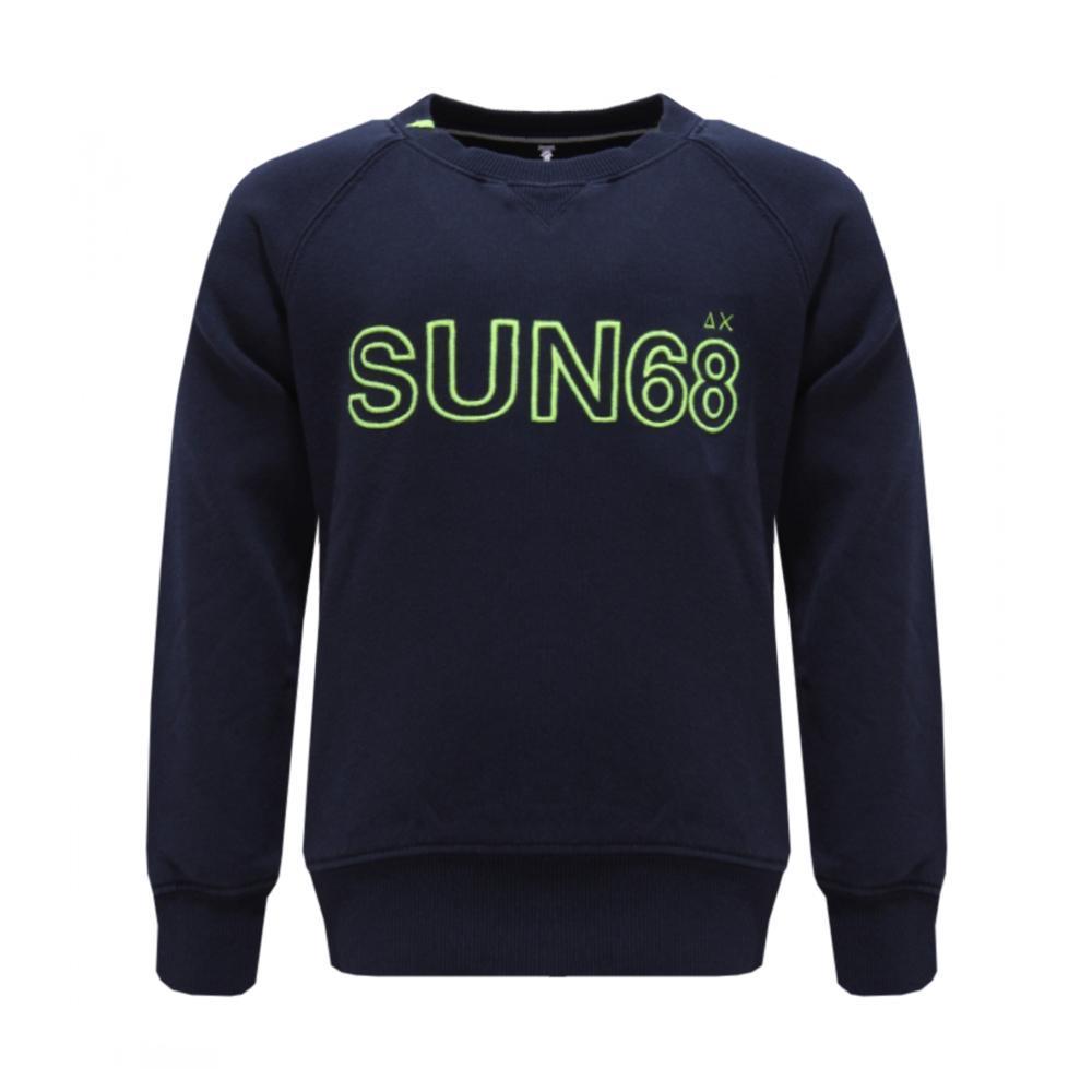 sun68 sun68 felpa girocollo bambino blu scuro f18307