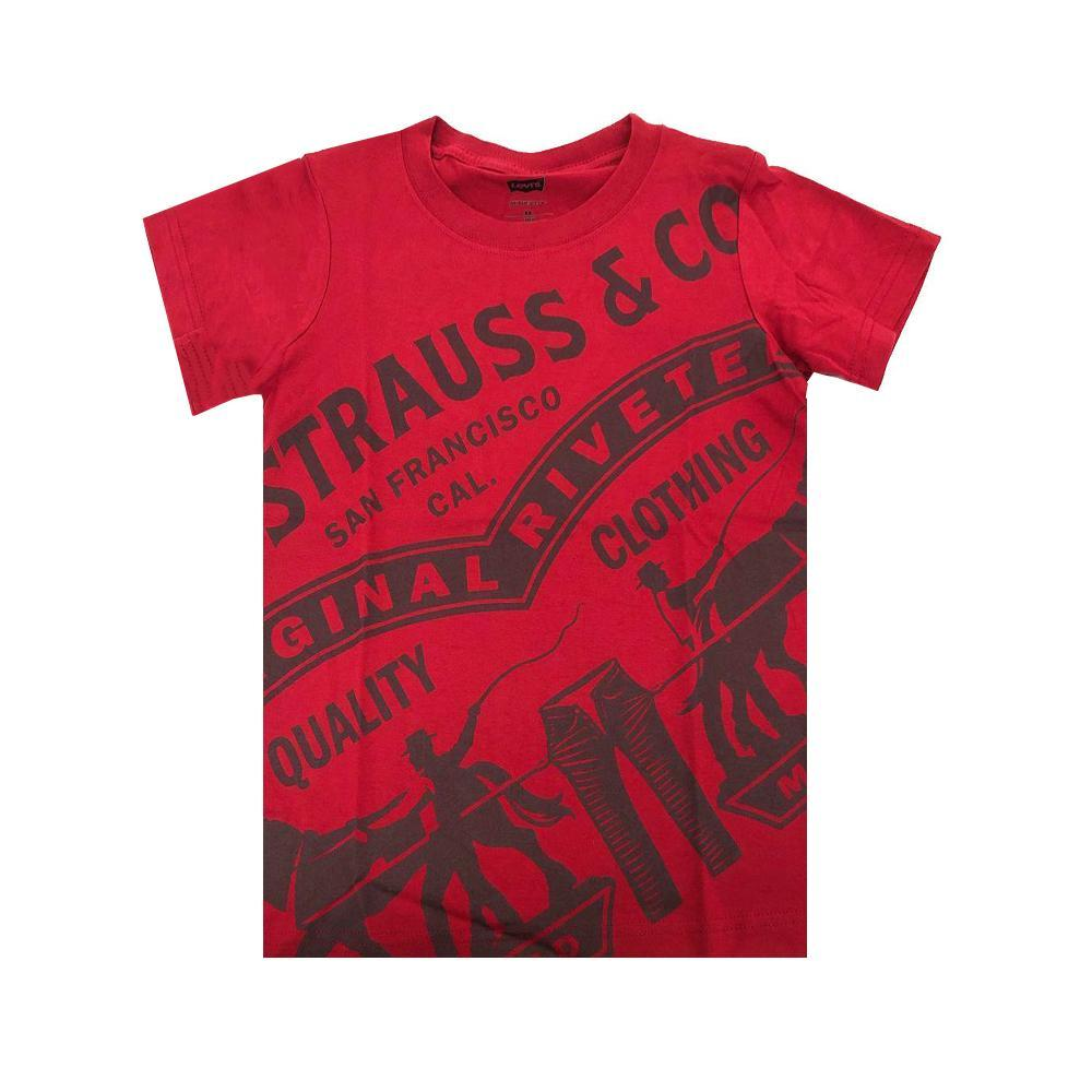 levis levis t-shirt bambino rosso 8eb042