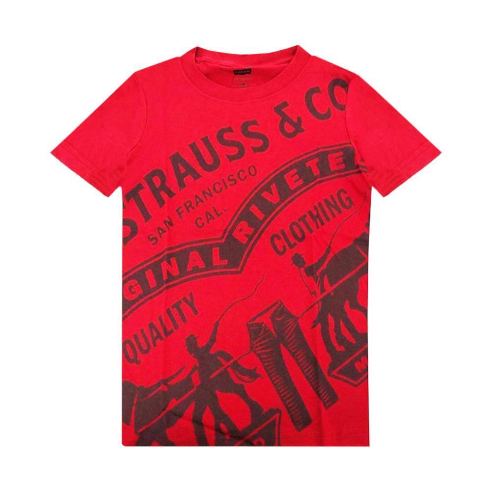 levis levis t-shirt junior rosso 9eb042