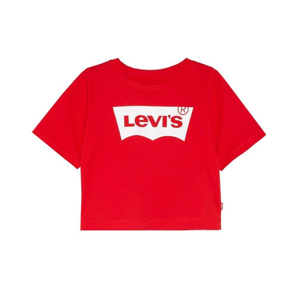 levis levis t-shirt ragazza rosso 3e0220