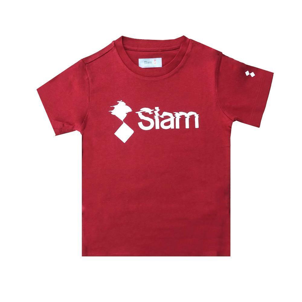 slam slam t-shirt bambino rosso s312045t00