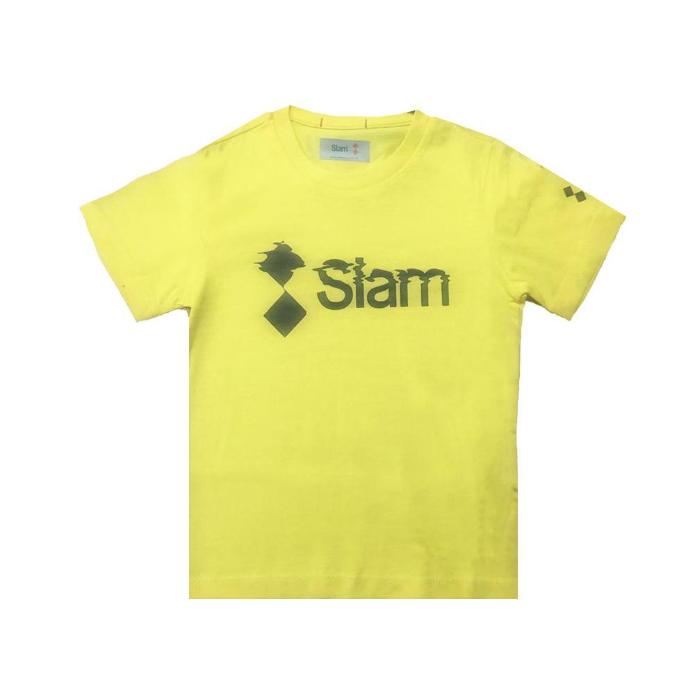 slam slam t-shirt bambino giallo s312045t00