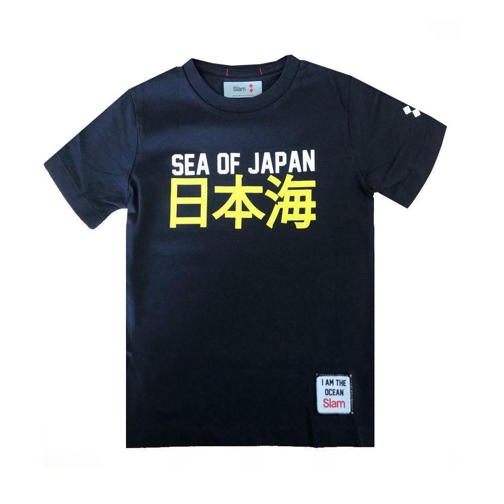 slam slam t-shirt bambino blu s312046t00