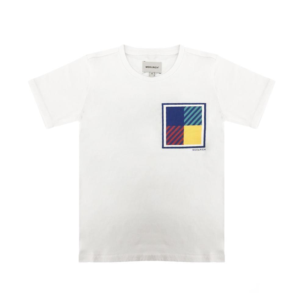 woolrich woolrich t-shirt bambino bianco wkte0047mr