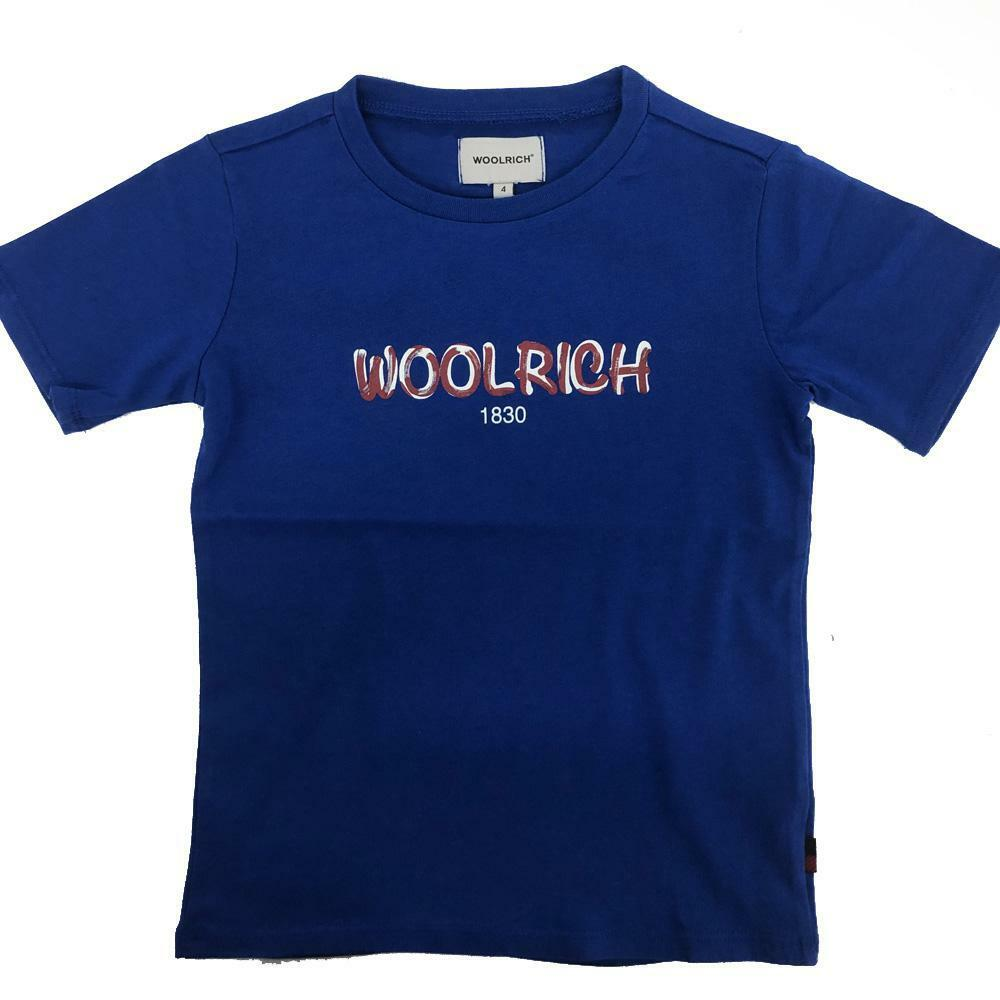 woolrich woolrich t-shirt bambino royal wkte0048mr