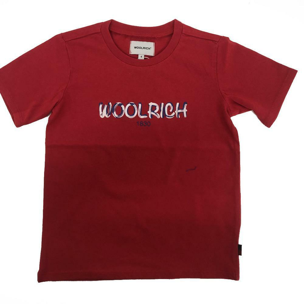 woolrich woolrich t-shirt bambino rosso wkte0048mr
