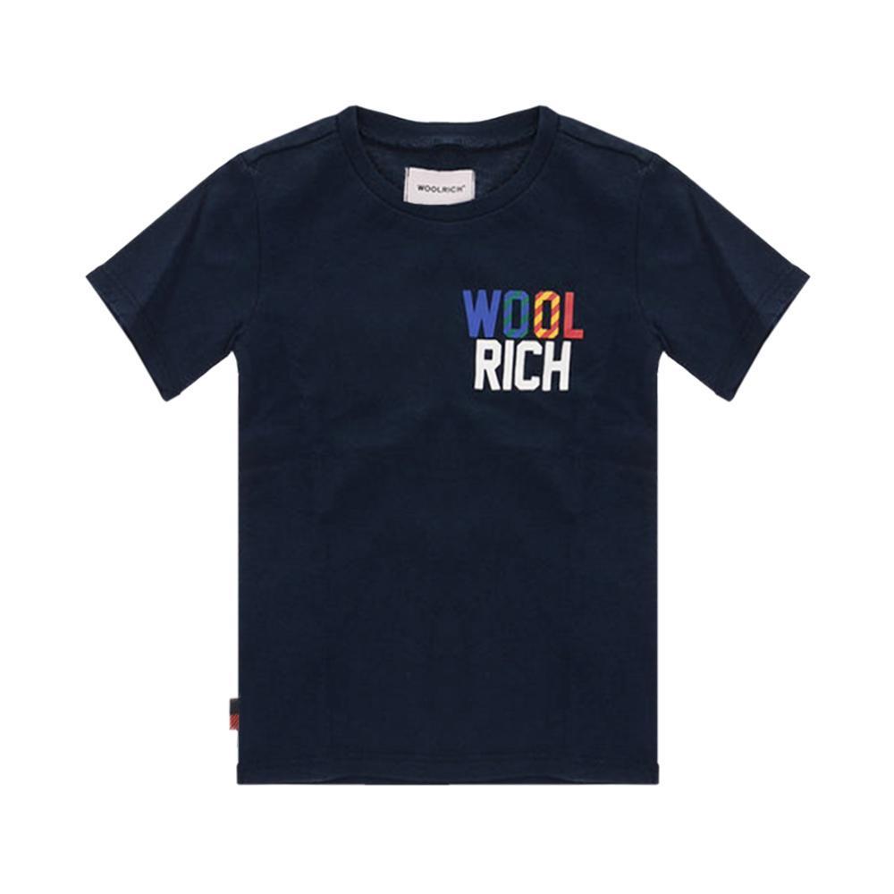 woolrich woolrich t-shirt bambino blu wkte0049mr