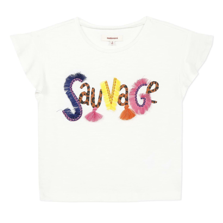 catimini catimini t-shirt bambina bianca cq10155