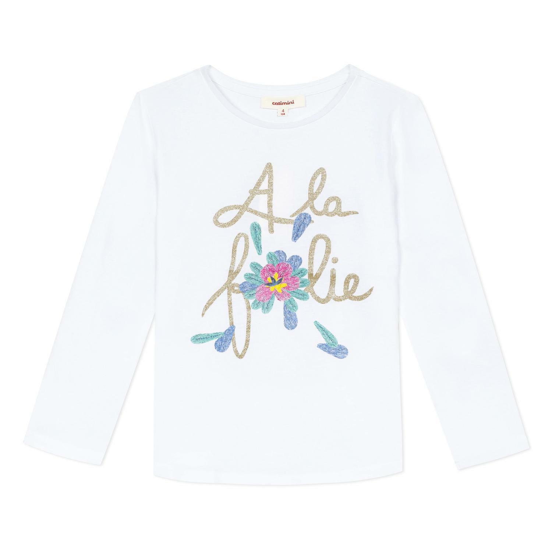 catimini catimini t-shirt bambina bianca cq10255