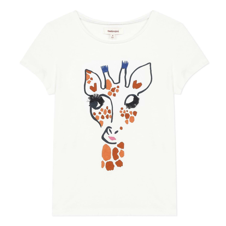 catimini catimini t-shirt bambina bianco cq10135