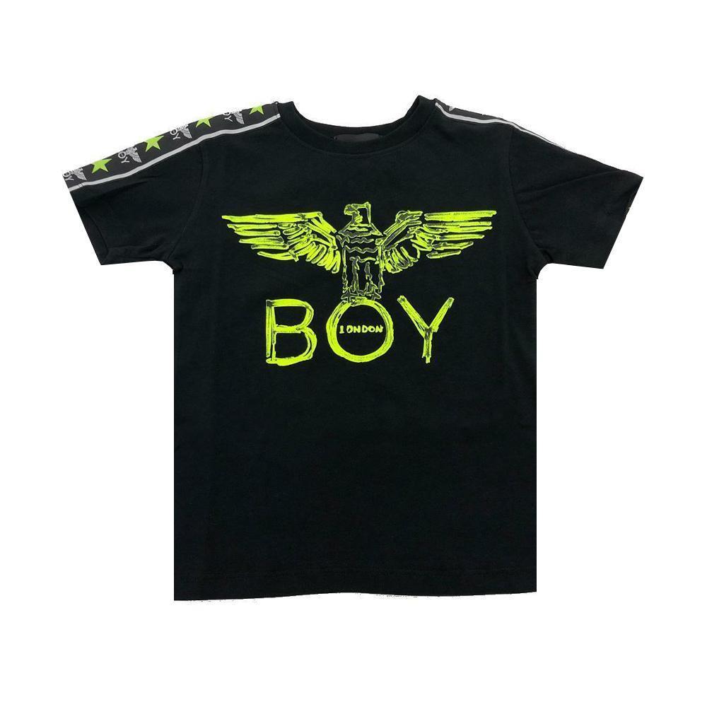 boy london boy london t-shirt ragzzo nero giallo fluo tsbl2169j
