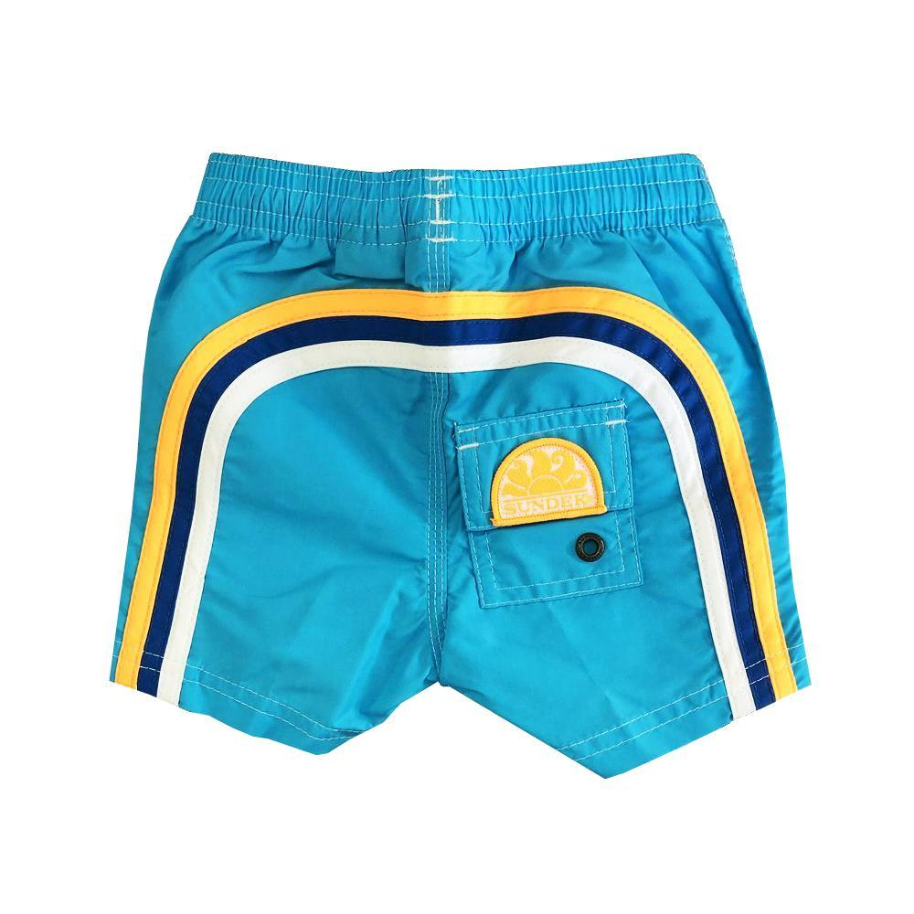 sundek sundek costume bambino azzurro arancio fluo b504bdta100k