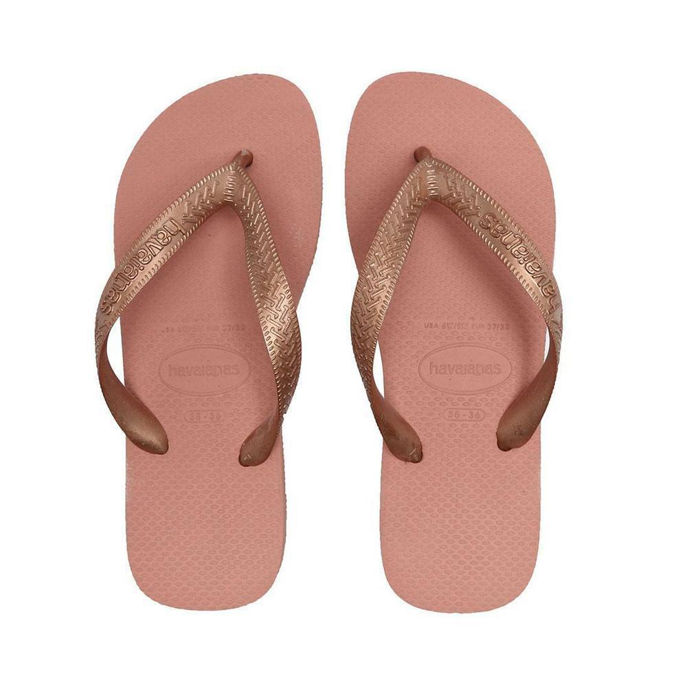 havaianas havaianas infradito bambina  rosa bronzo h. top tiras cf