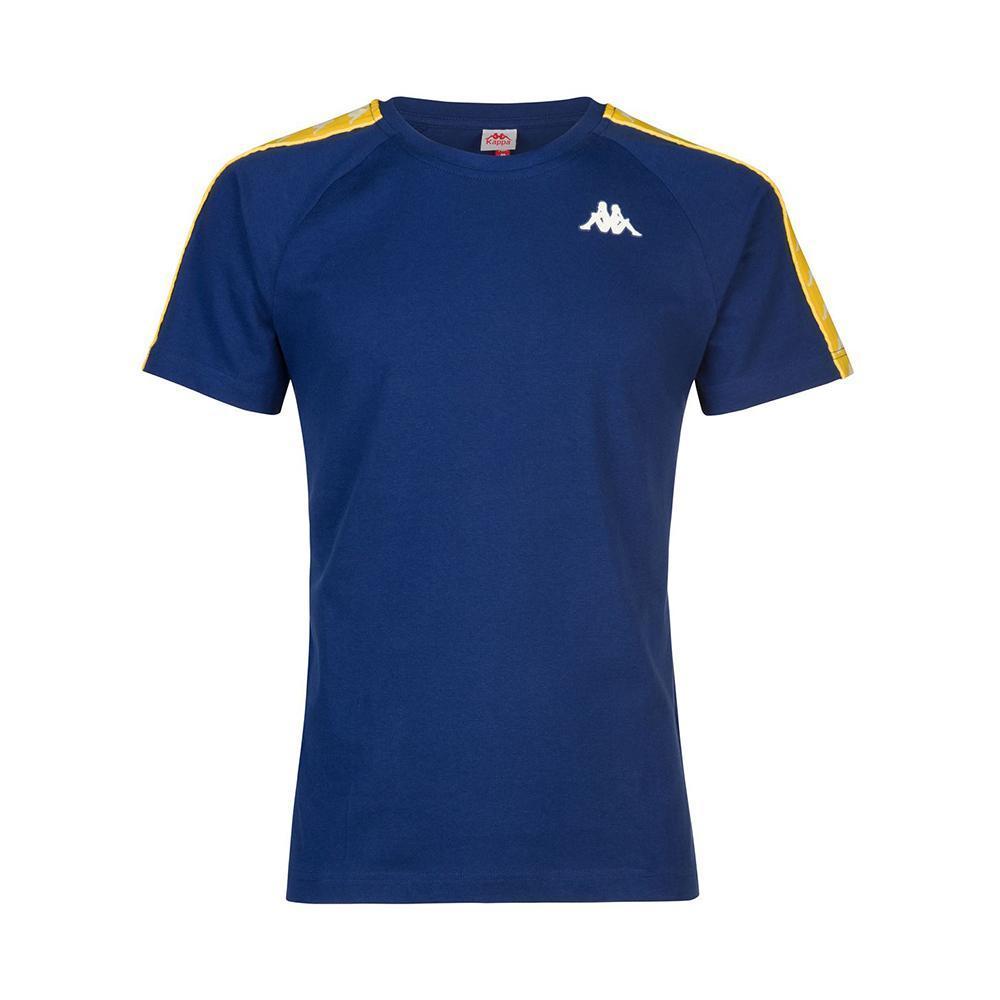 kappa kappa t-shirt bambino blu giallo 303uv101