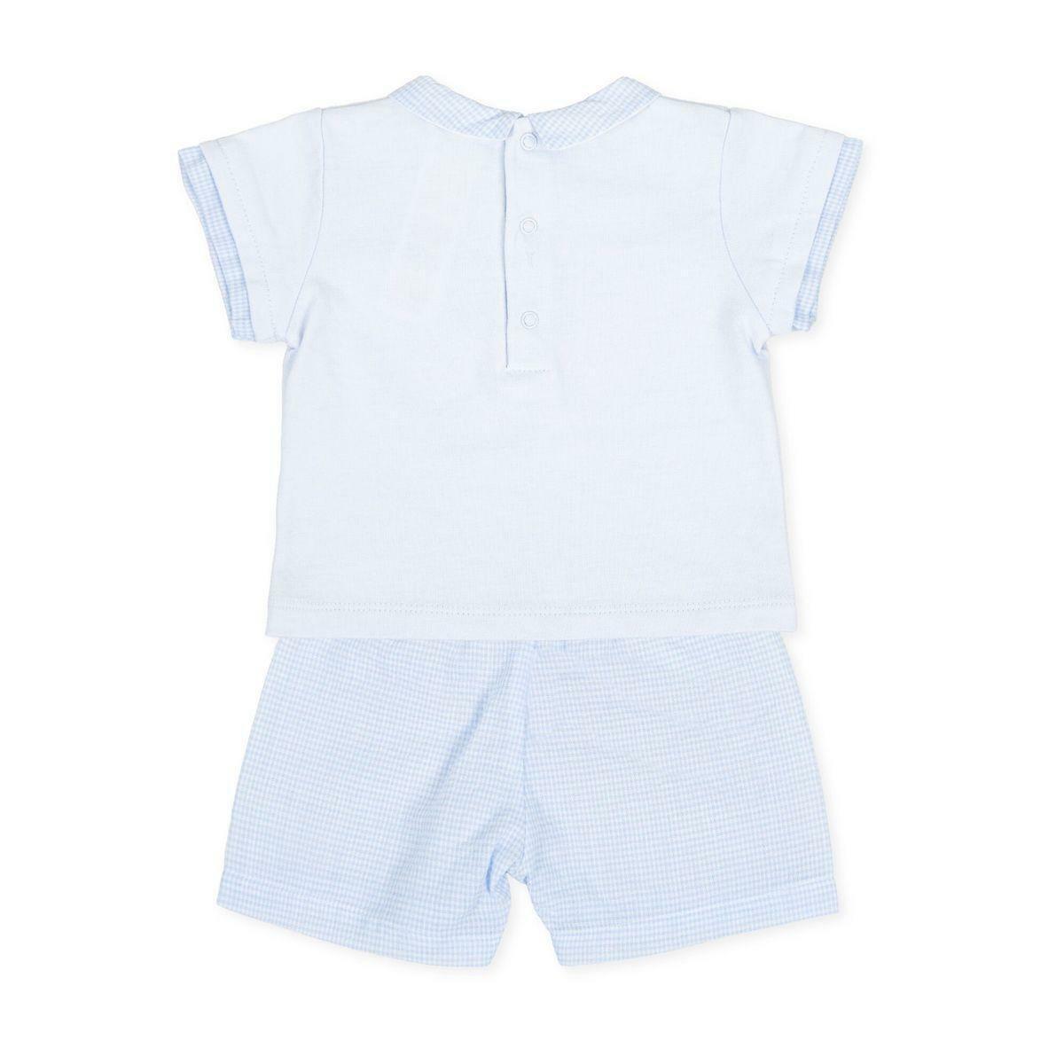 tutto piccolo tutto piccolo completo 2 pezzi neonato bianco azzurro 8684s20