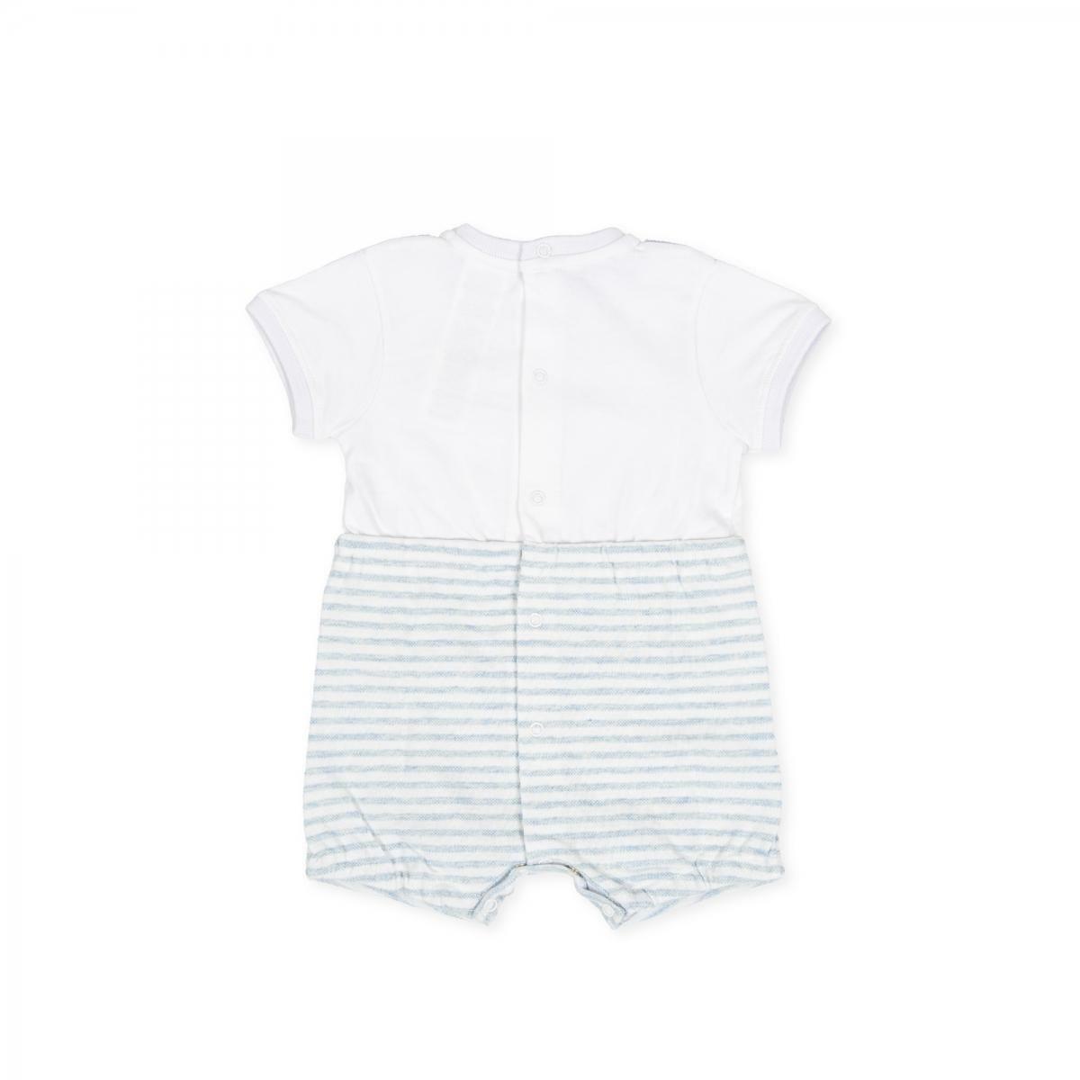 tutto piccolo tutto piccolo pagliacetto neonato bianco azzurro 8280s20