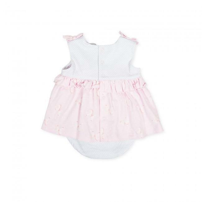 tutto piccolo tutto piccolo vestitino con  coulotte neonato rosa 8787s20