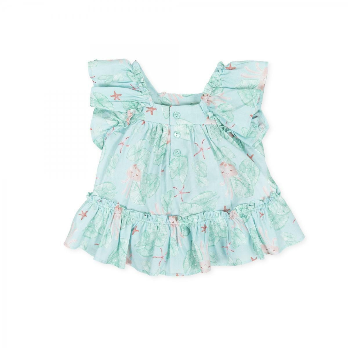 tutto piccolo tutto piccolo vestitino neonata verde acqua 8276s201