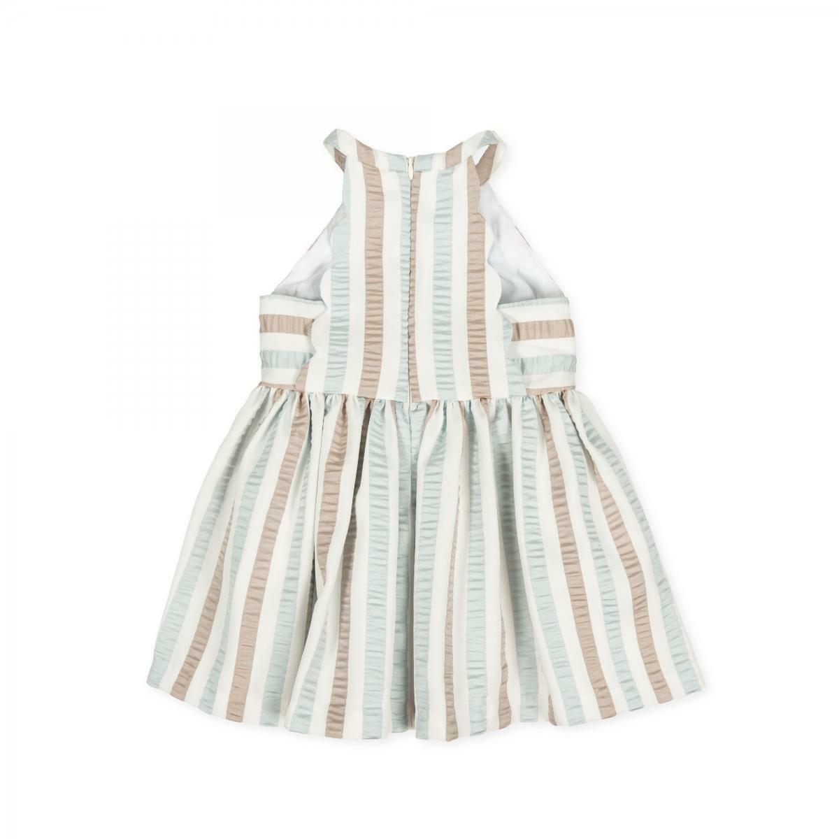 tutto piccolo tutto piccolo vestitino neonata verde acqua e beige 8220s20