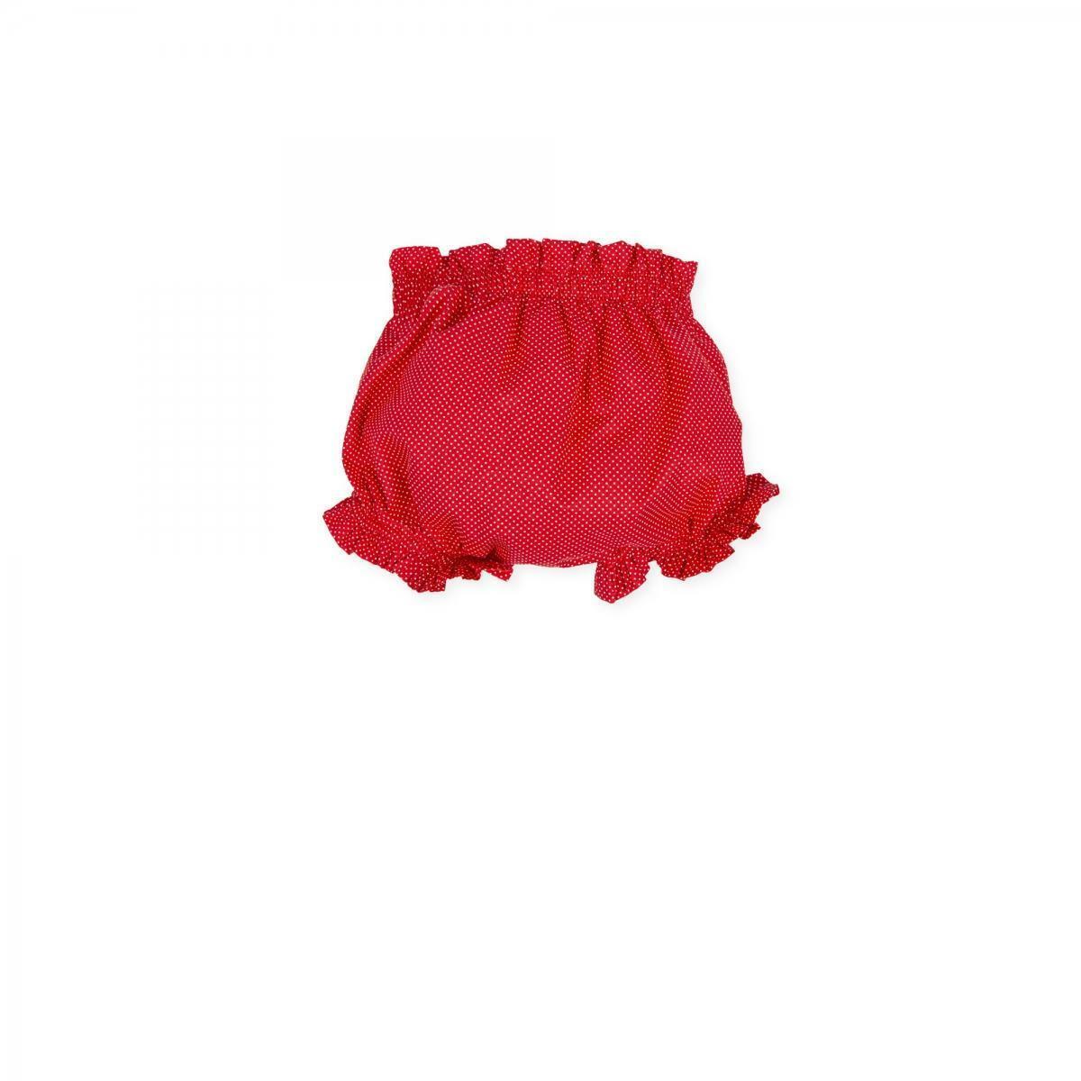 tutto piccolo tutto piccolo coulotte neonato rosso 8142s20