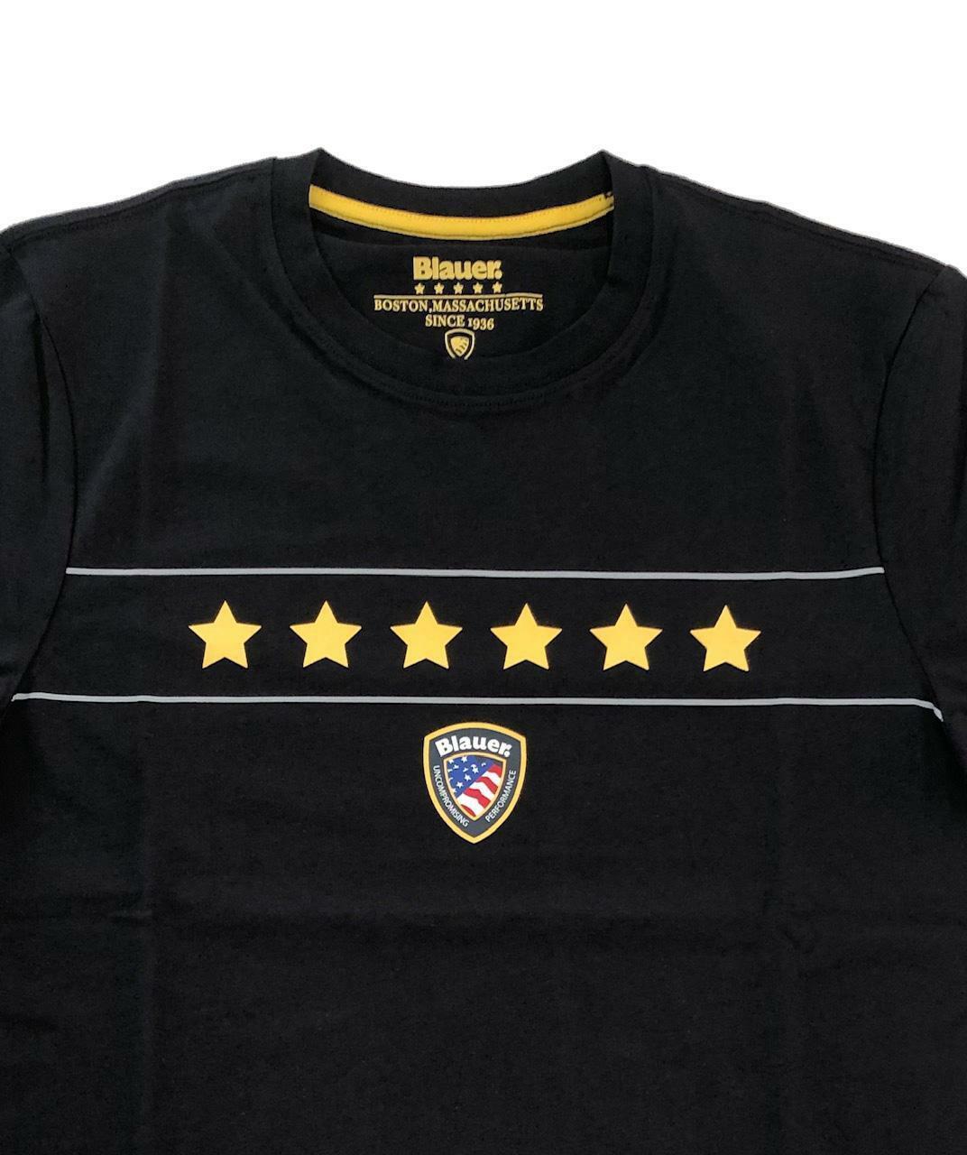 blauer t-shirt blauer uomo nero 20sbluh02167