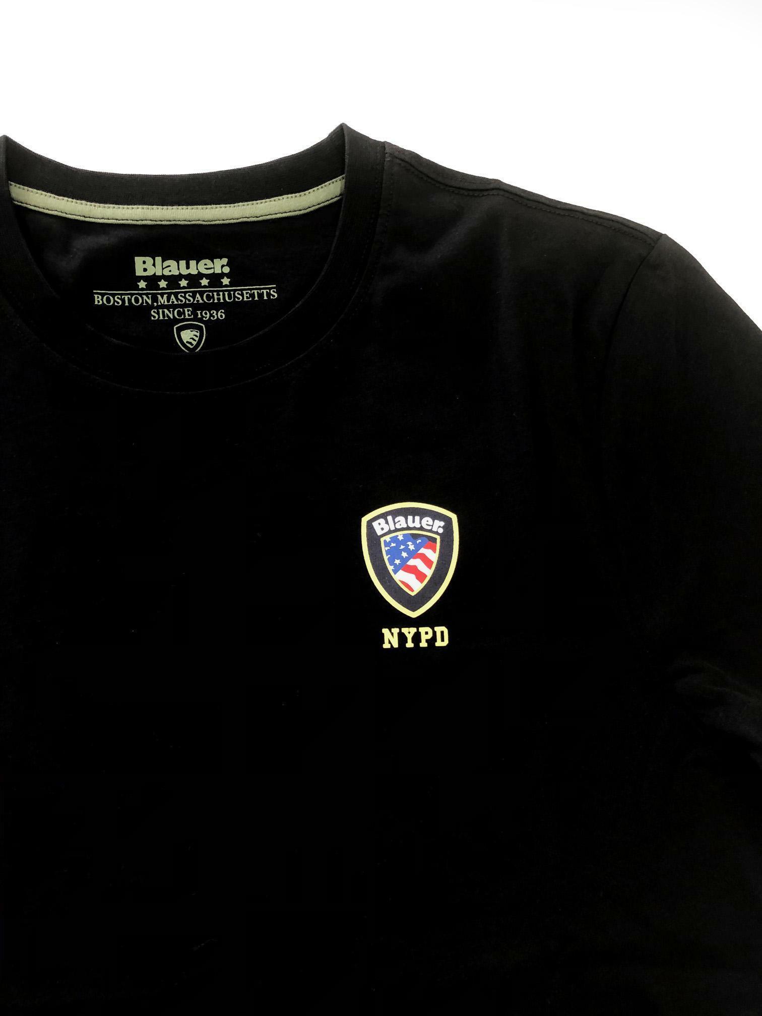 blauer t-shirt blauer uomo nero 20sbluh02176